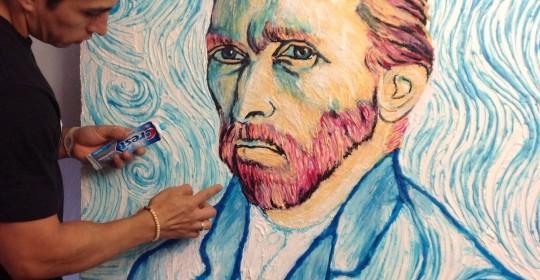 Artă cu pastă de dinți